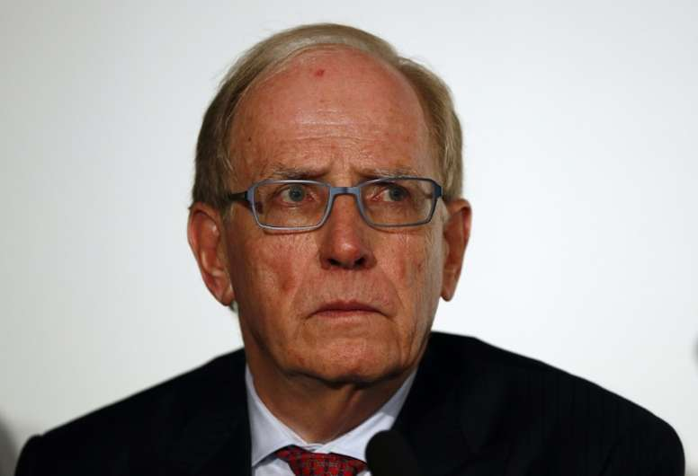 Richard McLaren attends a press conference following the publication of his report on drug use in Russian sport