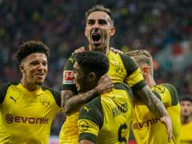 Sancho was on hand to help Dortmund win again. AFP