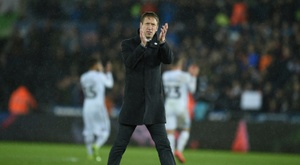 Potter walked away from Swansea and will become Brighton boss. AFP