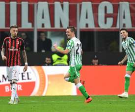 Giovani Lo Celso helped Betis beat Milan. AFP