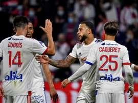 Le groupe de l'OL pour affronter Lorient. afp