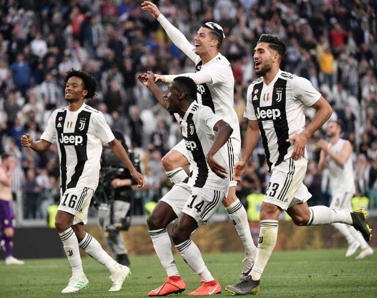 Los planes de la Juventus con Cuadrado y Emre Can. AFP