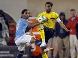 Guardiola named a young side against Dortmund. AFP