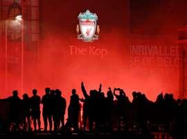 Liverpool présente son nouveau maillot pour la saison 2020-21. AFP
