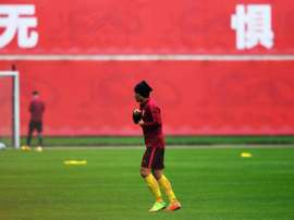 China's national captain Zheng Zhi has been suspended for several games.AFP