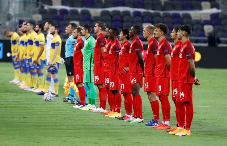 Three Salzburg players have got COVID-19. AFP