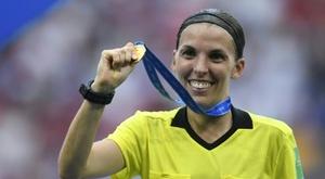 Stephanie Frappart will take charge of Juventus versus Dynamo Kiev. AFP