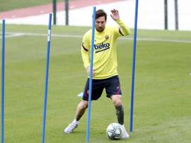 Barca confident Messi can face Mallorca, despite thigh injury. AFP