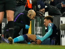 Alli strained a hamstring and faces some time on the sidelines. AFP