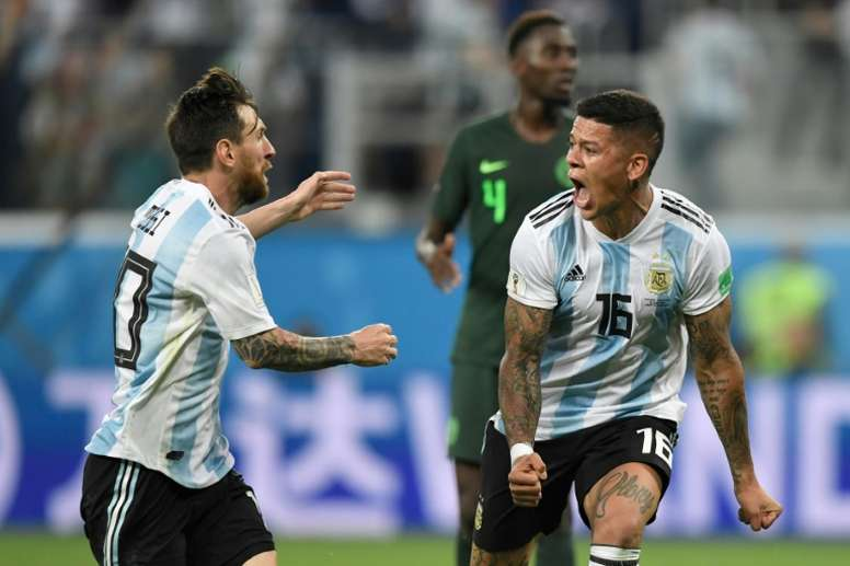 Rojo dio la victoria a Argentina. AFP