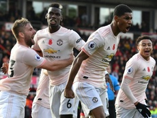 Manchester United came back to beat Bournemouth on Saturday. AFP