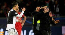 Double trouble as Ronaldo rages at selfie-hunting pitch invader