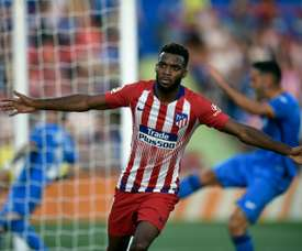 Thomas Lemar scored his first Atletico goal on Saturday at Getafe. AFP