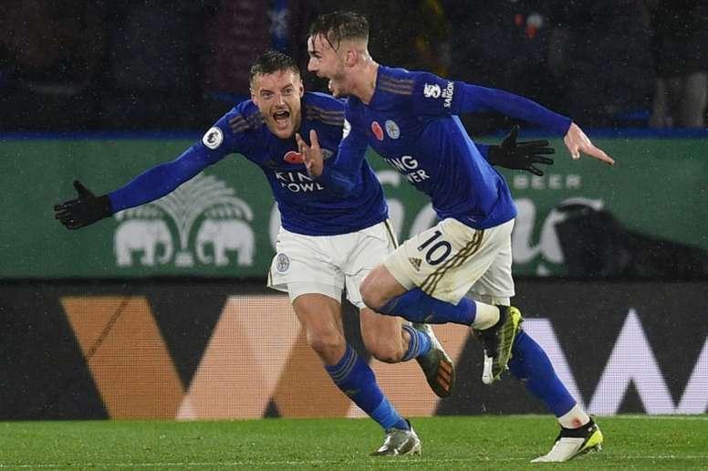 El Leicester sumó su cuarta victoria seguida. AFP