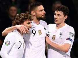 Les compos probables du match de qualification à l'Euro entre la France et l'Islande. AFP