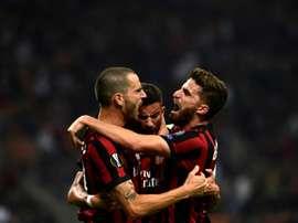 El Milan se impuso al Ludogorets. AFP