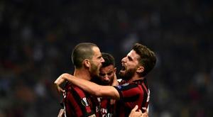 Musacchio salió mal parado en el empate del Milan ante el Cagliari. EFE