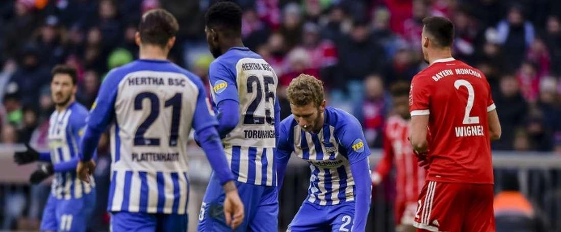 El Hertha podría reforzarse con Klünter. AFP