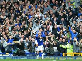 Evertons Steven Naismith celebrates his third goal against Chelsea, securing a 3-1 win over the Premier League champions on September 12, 2015