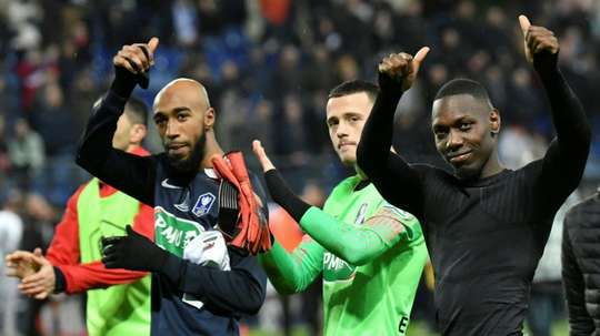 Rennes are through. AFP