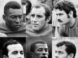 Pele and his fellow World Cup-winning heroes -- The great Brazil team of 1970