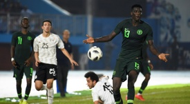 Nigeria forward Paul Onuachu. AFP