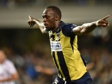 Olympic sprinter Bolt scored twice in his first start for Australias Central Coast Mariners. AFP