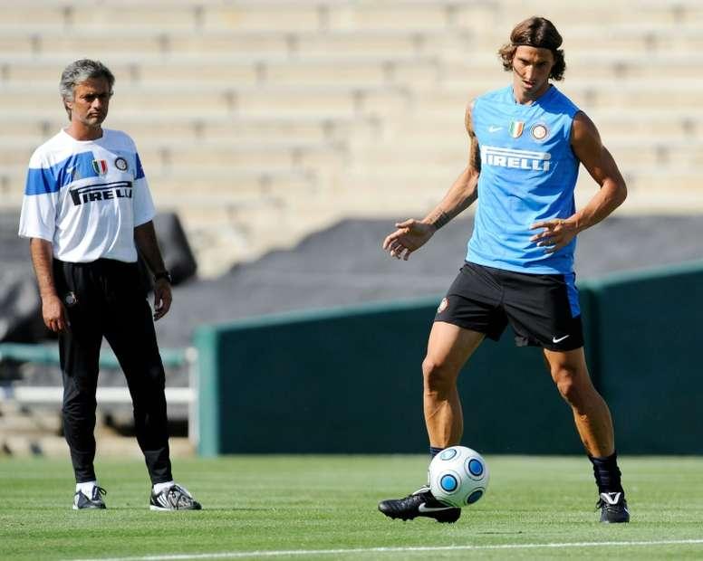 Ibrahimovic ya estuvo en el Inter. AFP