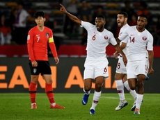 Qatar shocked Son and South Korea. AFP