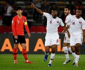 Qatar shocked Son and South Korea. AFP