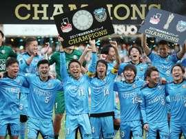Kawasaki Frontale crushed Omiya Ardija 5-0 on Saturday to capture the J-League championship. AFP