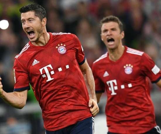 El Bayern goleó al Nürnberg. AFP
