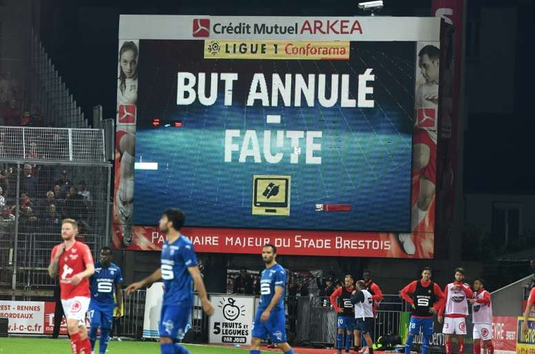 Rennes had a goal chalked off after the referee carried out two pitchside reviews. AFP