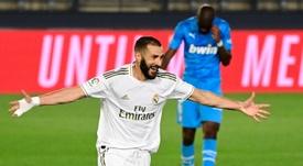 Benzema se tomó con ironía las palabras de Le Graët. AFP