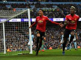Manchester United esteve a perder por 2-0.