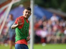 Hernandez has begun training at his new club. AFP