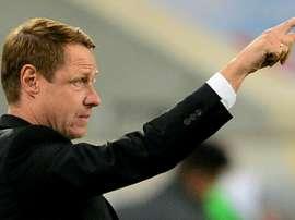 Krasnodar coach Oleg Kononov, pictured in 2014, has resigned as head coach after three years. AFP