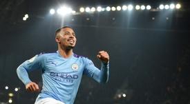 Gabriel Jesus deu assistência e marcou gol contra o Real Madrid. AFP/Arquivo