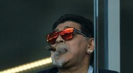 Maradona y su entrevista en el día de su cumpleaños. AFP