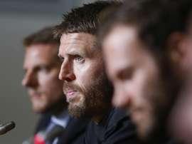 Michael Carrick, candidat pour le banc de Newcastle. AFP