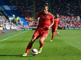 Gareth Bale, pictured on September 6, 2015, was voted Welsh player of the year for a record fifth time