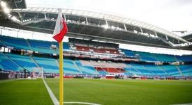La reapertura de los estadios no convence a los hinchas en Alemania. AFP