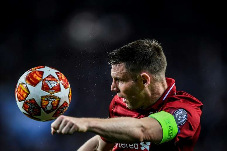 Milner clashed with Messi. AFP
