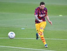 Messi started for Barcelona. AFP