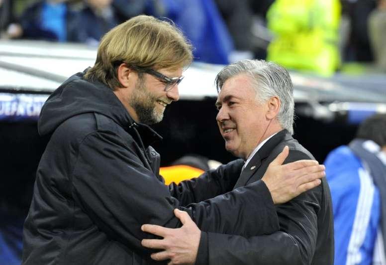 Ancelotti è d'accordo con Klopp. AFP