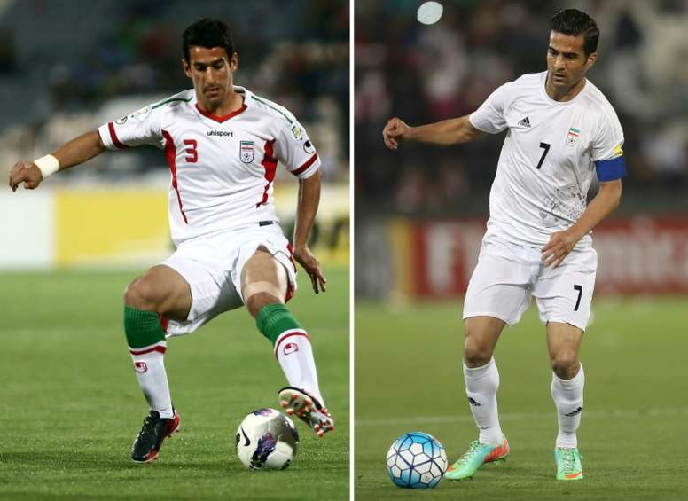The duo were criticised for featuring in a match against an Israeli side. AFP