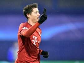 L'attaquant du Bayern Robert Lewandowski. AFP