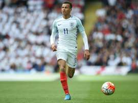 Englands midfielder Dele Alli controls the ball during a friendly match against Turkey.AFP