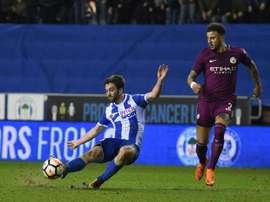 Will Grigg eliminó al City de la FA Cup. AFP
