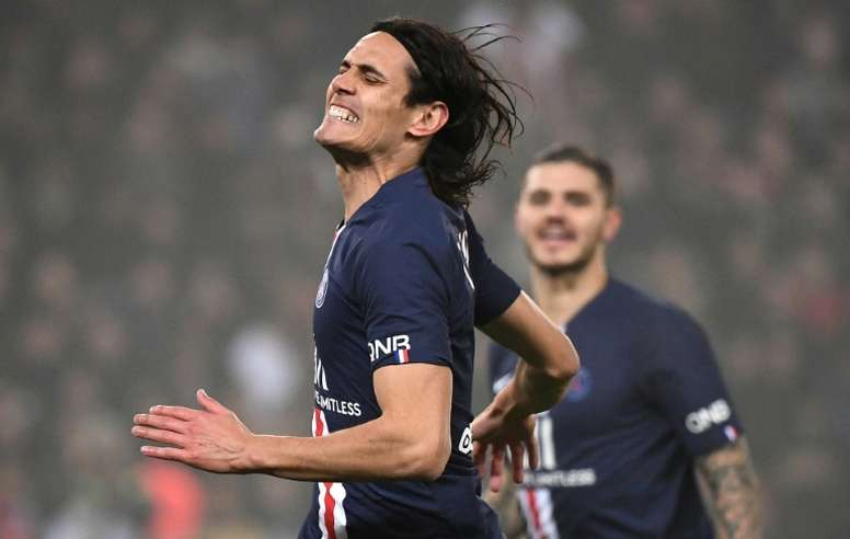 United and Arsenal are also interested in Cavani. AFP
